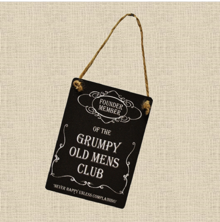 50% OFF Mini Metal Sign- Grumpy Old Mens Club
